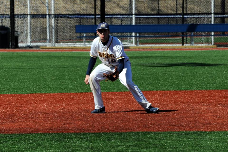 Eddie Newton has become a fixture at third base for the Merrimack College baseball team.
