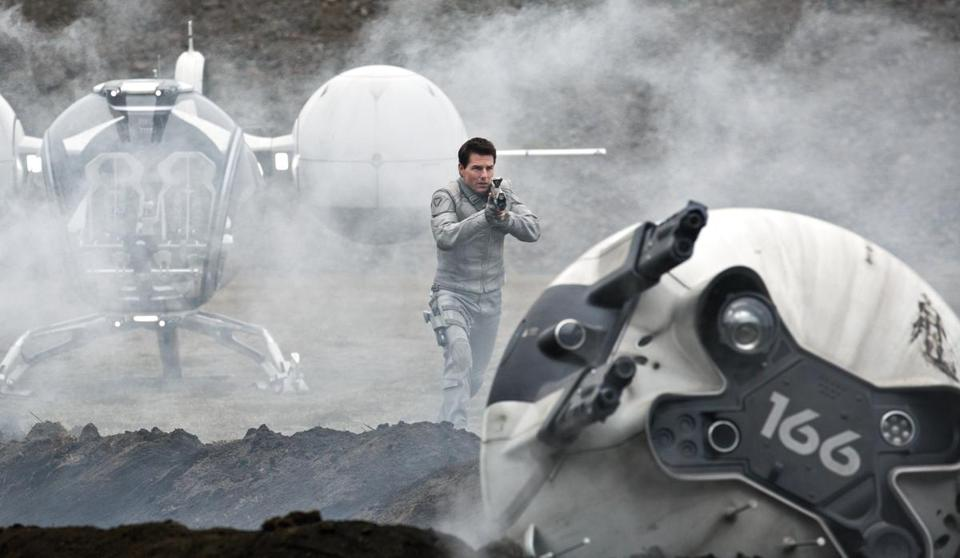 Tom Cruise plays Jack Harper, a man assigned to keep watch over what's left of Earth.