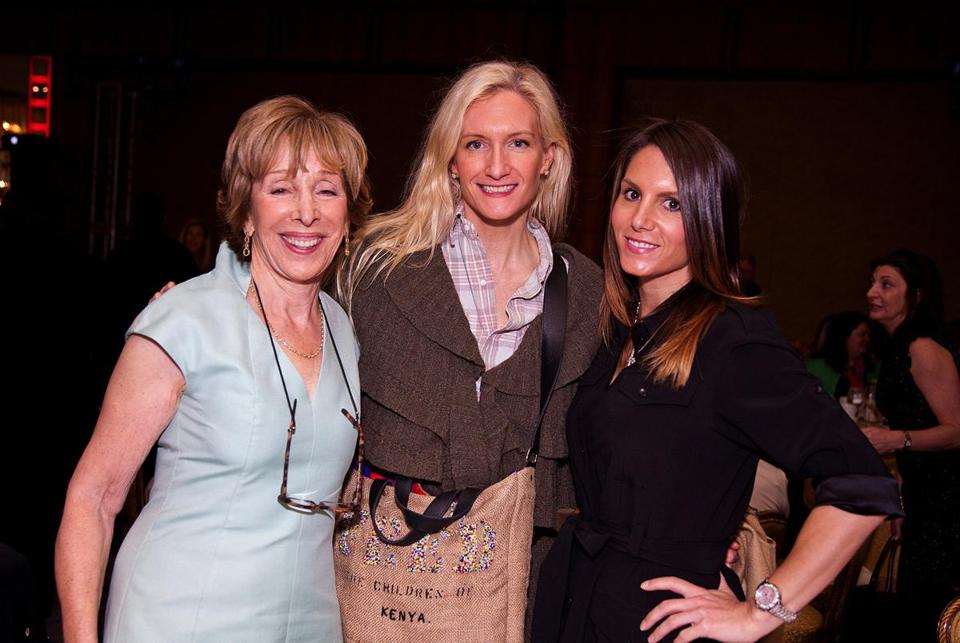 From left: Dana-Farber trustee Debbie First, stylist Allison Achtmeyer, and Tiffany Ortiz at the Mandarin Oriental.