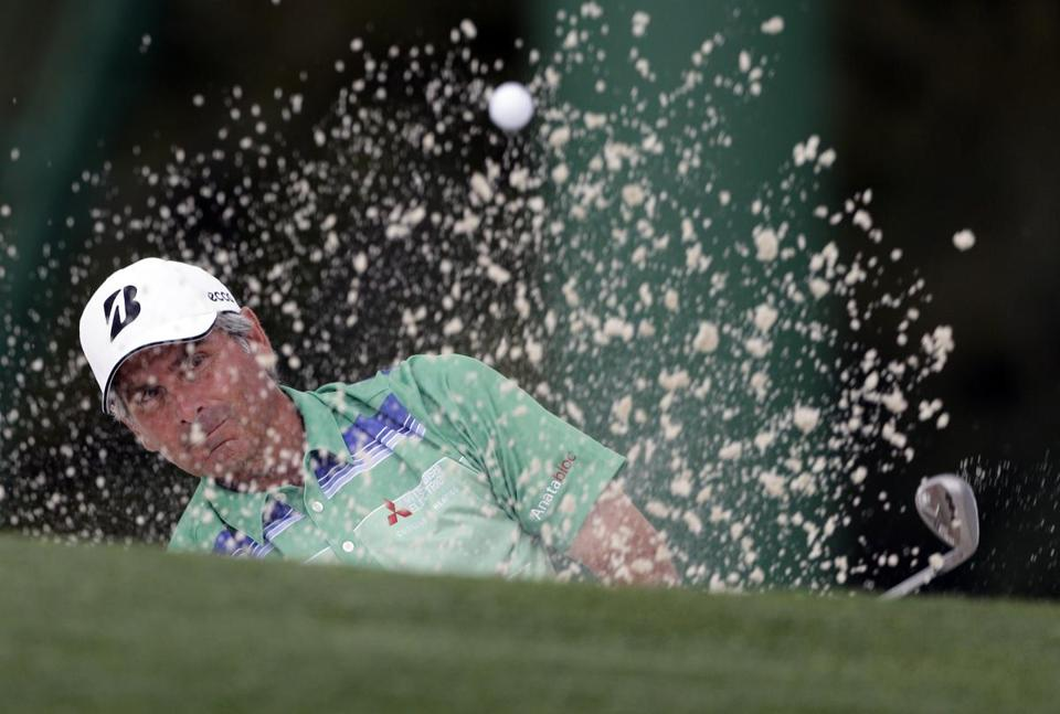 Fred Couples, 53, and Chinese teenager Tianlang Guan shared much of the afternoon stage at the Masters on Thursday.
