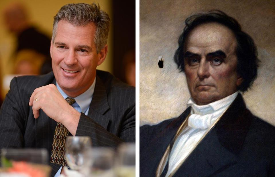 What do Scott Brown (left) and Daniel Webster have in common?