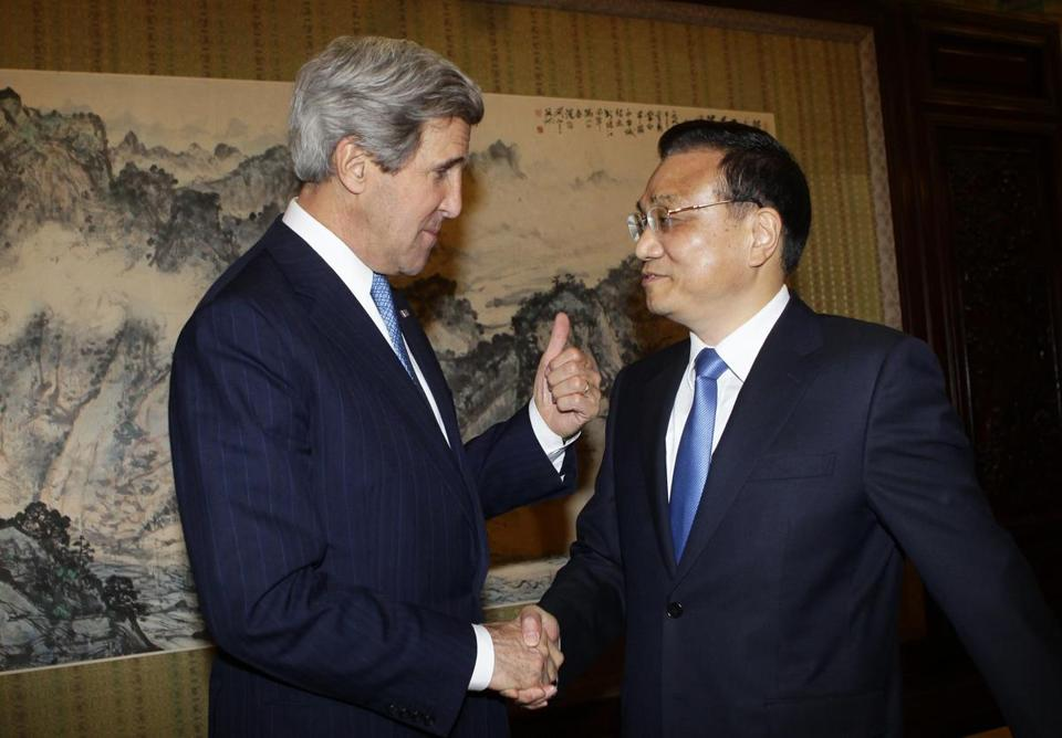 John Kerry met with Premier Li Keqiang and other top leaders as part of an effort to solicit help from China.