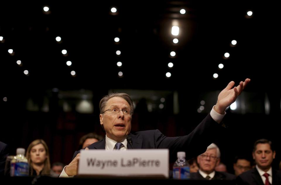 Not highly polished, yet Wayne LaPierre is effective as spokesman for the NRA, baffling his opponents.