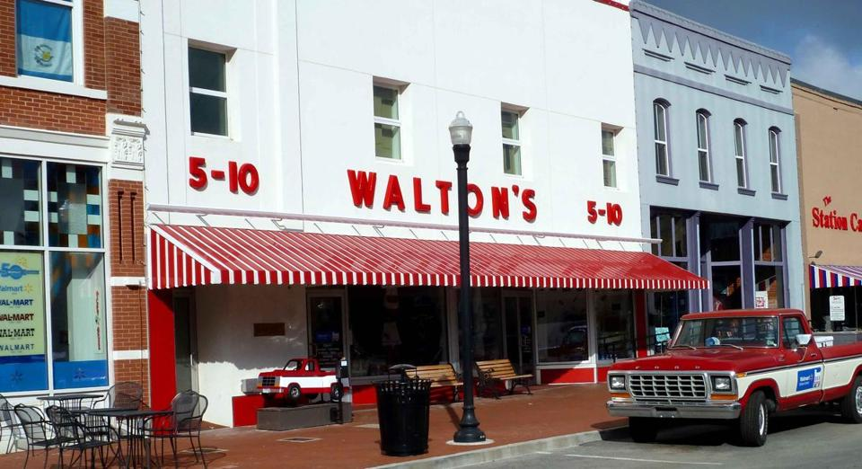 Sam Walton's first 5&10 in Bentonville, Ark., is the Walmart Visitors Center now. Inside is Walton's office, re-created as it looked when he died in 1992, a 74-year-old billionaire.
