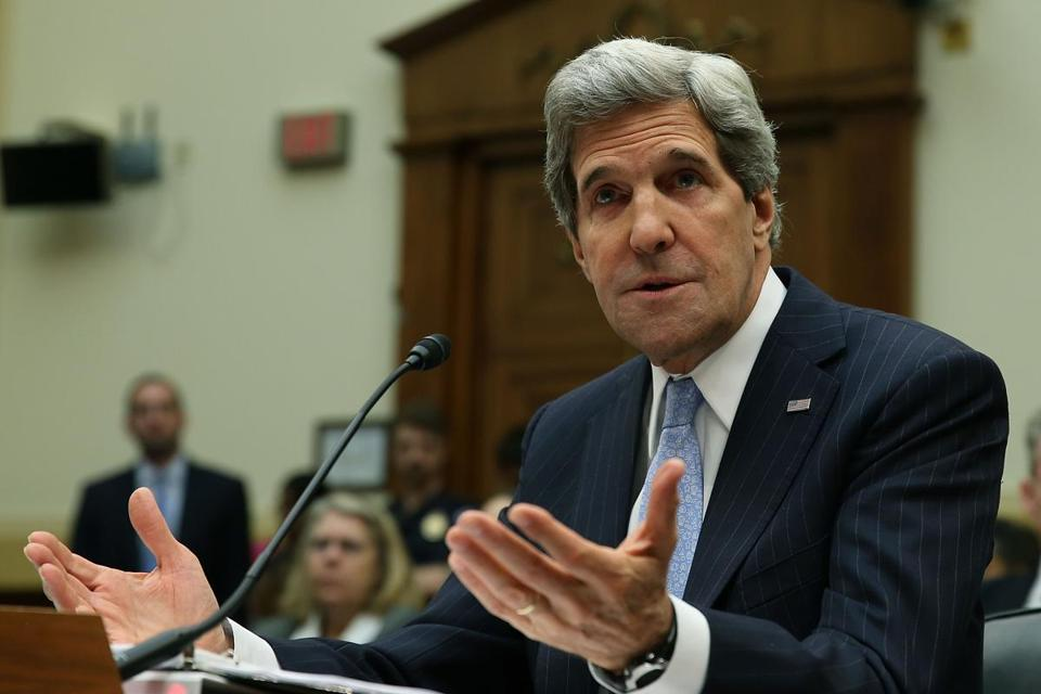 Secretary of State John Kerry testified during a House Foreign Affairs Committee hearing on Wednesday.