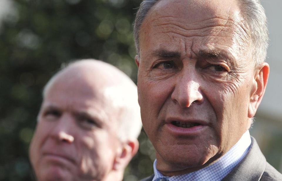 Senator Charles Schumer praised Obama for giving the senators room to craft the bill.