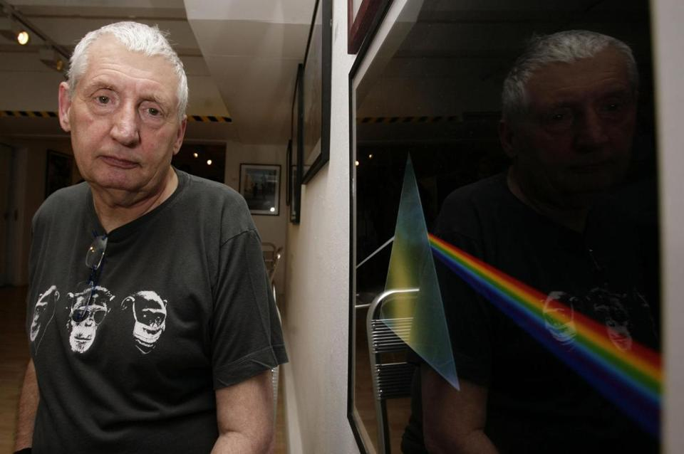 "Storm Thorgerson, with his iconic Pink Floyd album cover for ""Dark Side of the Moon.''"
