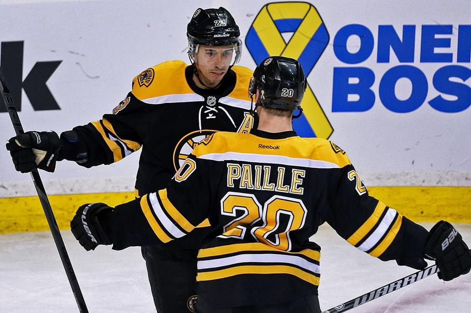 Daniel Paille and Chris Kelly each scored for the Bruins, who clinched a playoff berth but blew a one-goal lead with 27 seconds left before losing in a shootout.