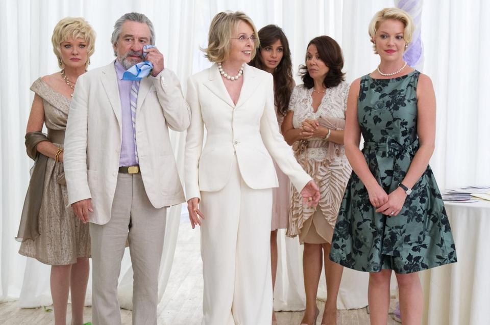 Robert De Niro and Diane Keaton (with Katherine Heigl) are exes pretending to be married.