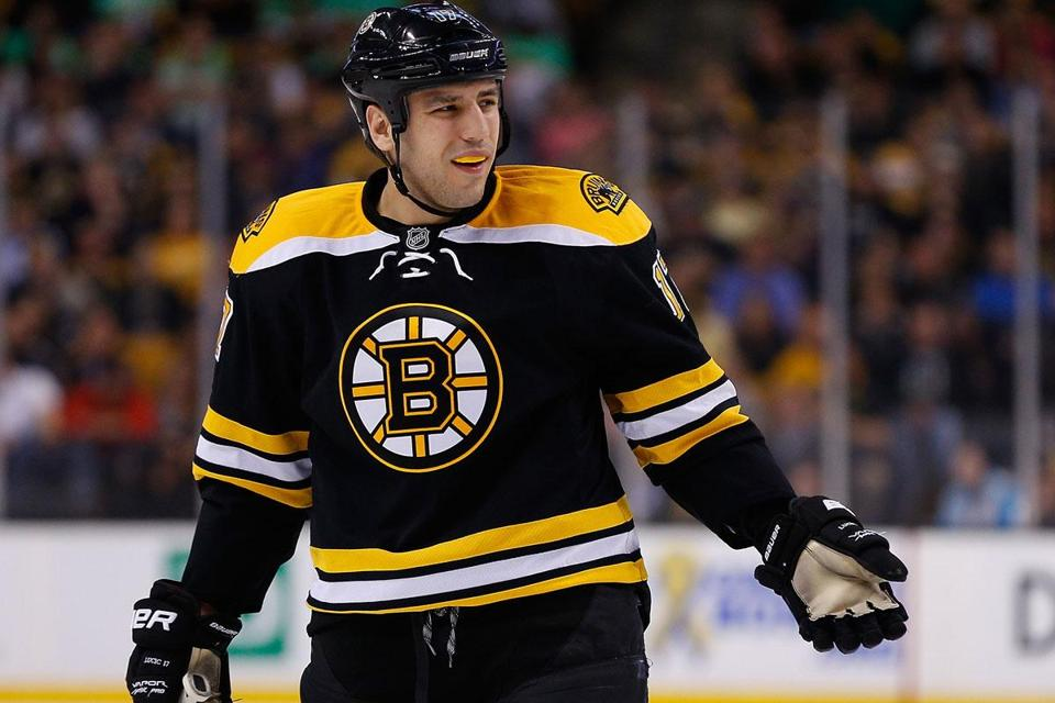 Bruins left winger Milan Lucic has just six goals in 41 games, and he has found no answers for his struggles.