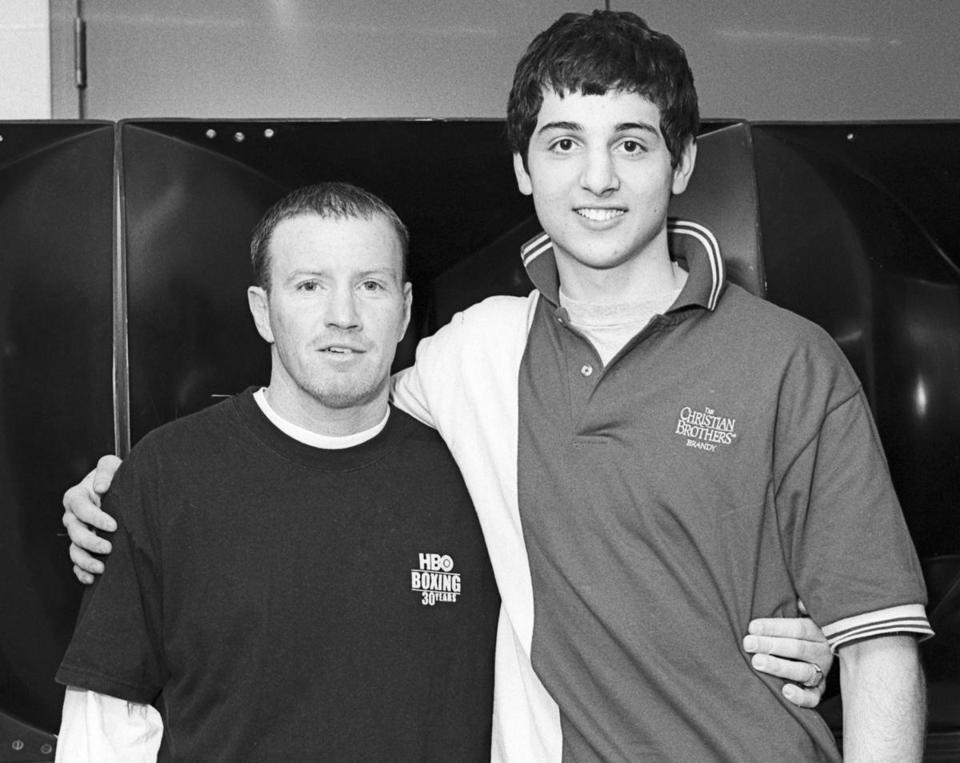 Tamerlan Tsarnaev towered over boxing champ Micky Ward at the 2006 Golden Gloves competition in Lowell.
