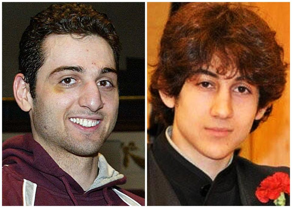 Bombing suspects Tamerlan (left) and Dzhokhar Tsarnaev.