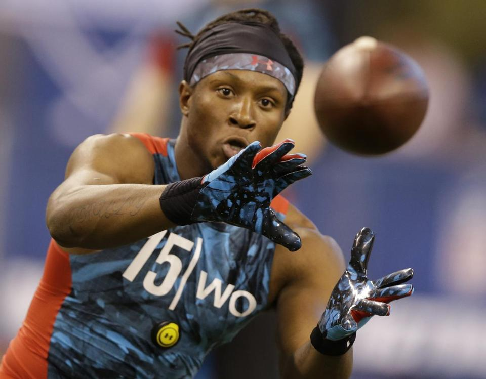 On possible Patriots receiver targets in the second round, Mike Mayock said DeAndre Hopkins of Clemson could be a good fit.