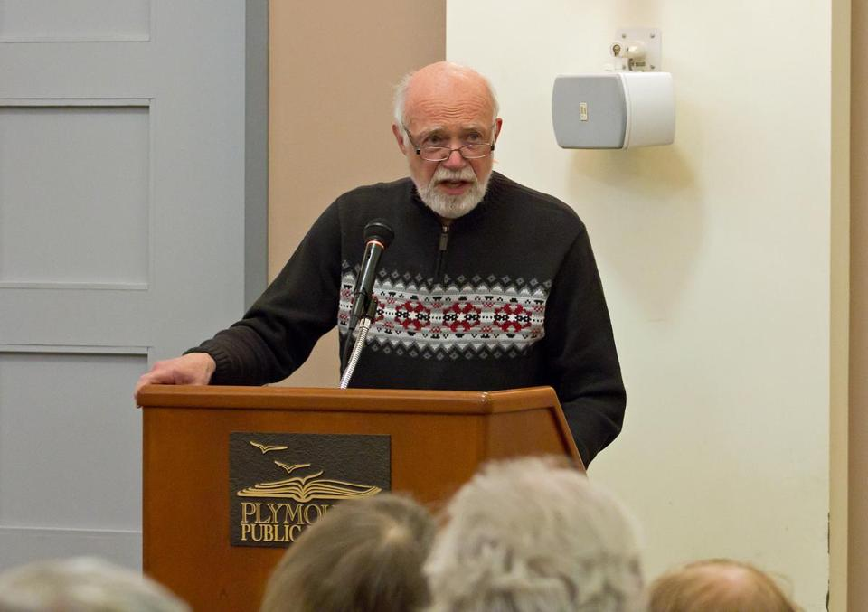 Charles H. Harper at last year's reading in Plymouth.