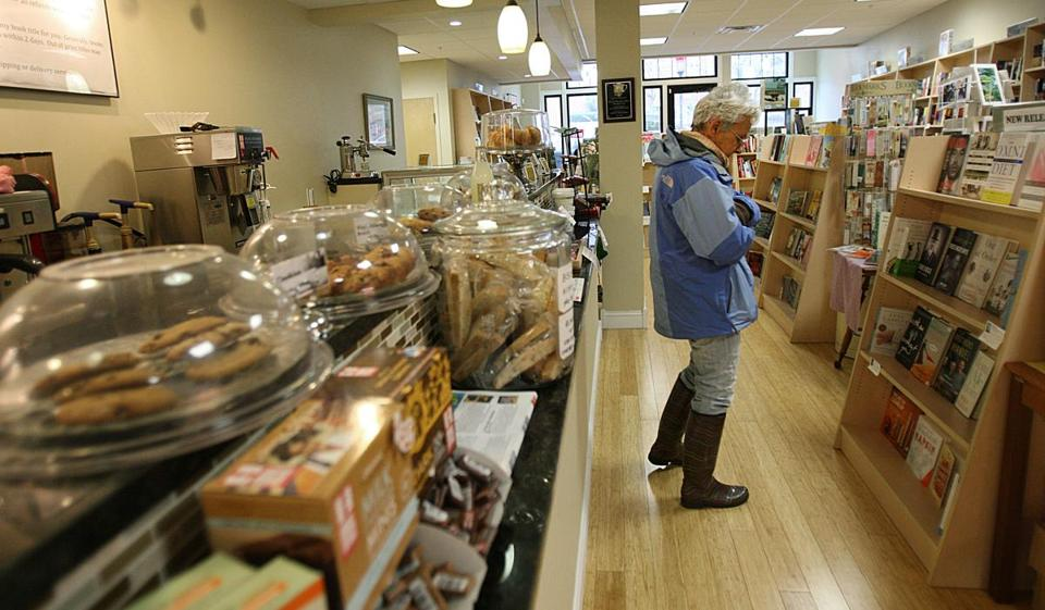 Judith Yarow browses at Bestseller's Cafe in Medford, a bookstore that offers fresh food.