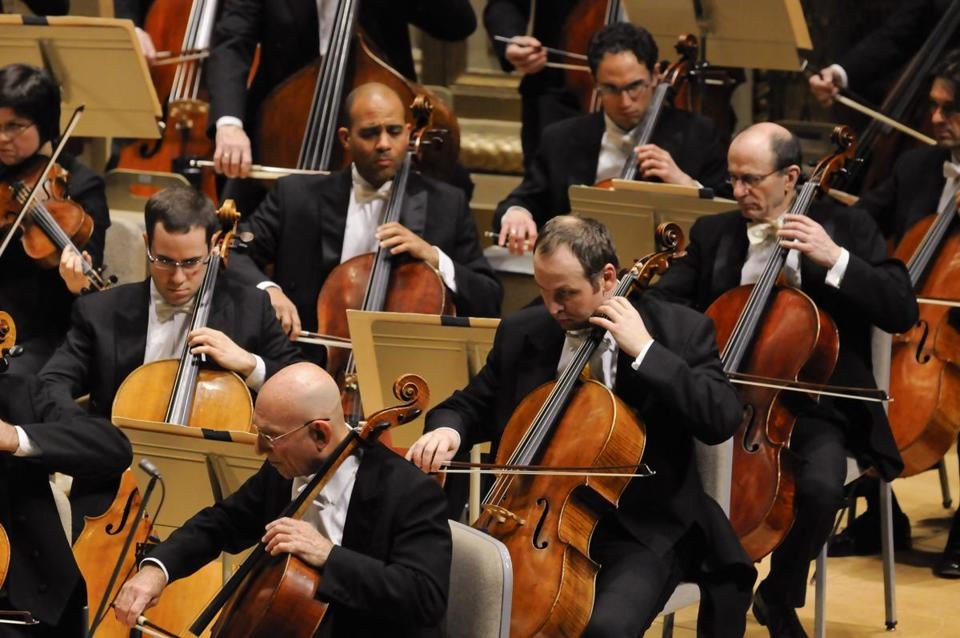 The Boston Symphony Orchestra in performance in 2012.