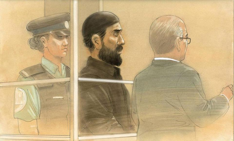 Raed Jaser appeared in court Tuesday after being arrested Monday in connection with a plot to derail a passenger train between Montreal and New York City.