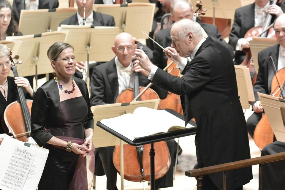 BSO conductor emeritus Bernard Haitink takes the baton for the last weeks of the season, starting with a program of Schubert and Mahler.