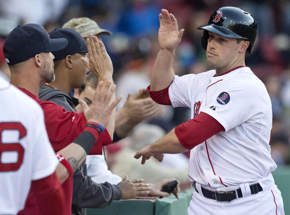 Daniel Nava and the Red Sox have started 15-7 to reach first place in the AL East.