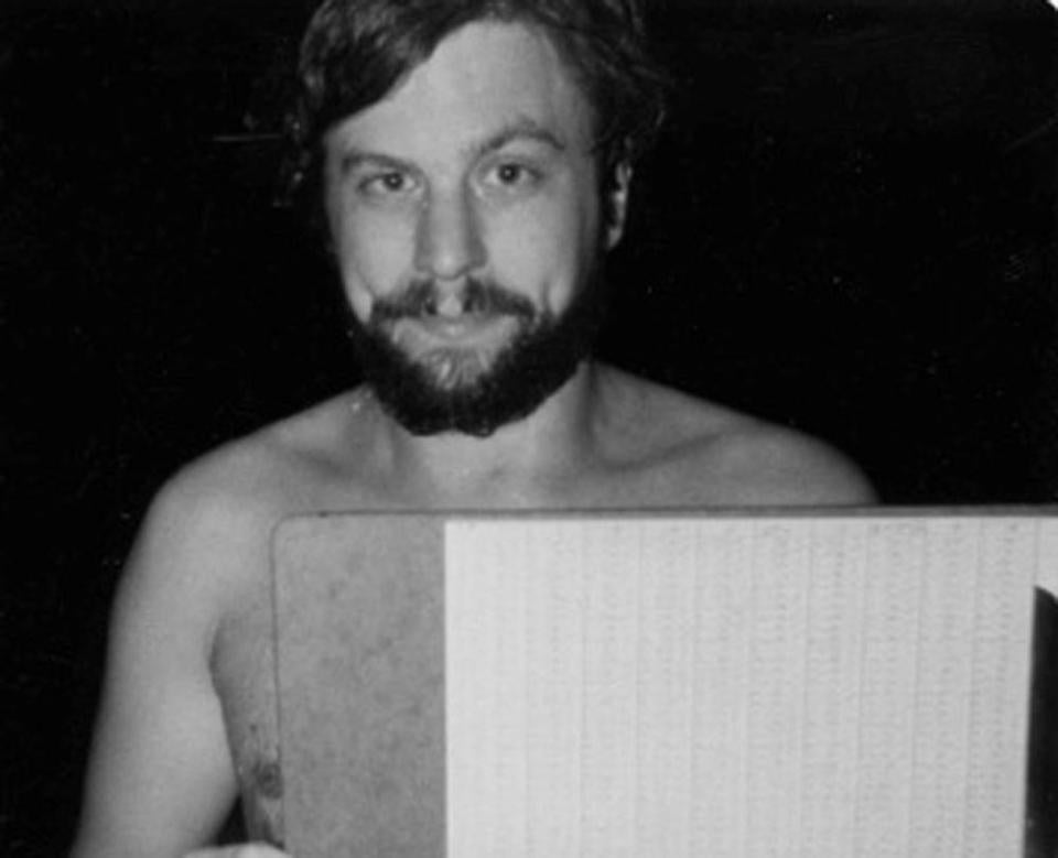 Robert E. Sondheim was photographed after a 1981 charity swim raised money for Camp Wonderland.