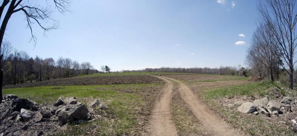 Newly tilled fields at the open house at Moose Hill Farm in Sharon.