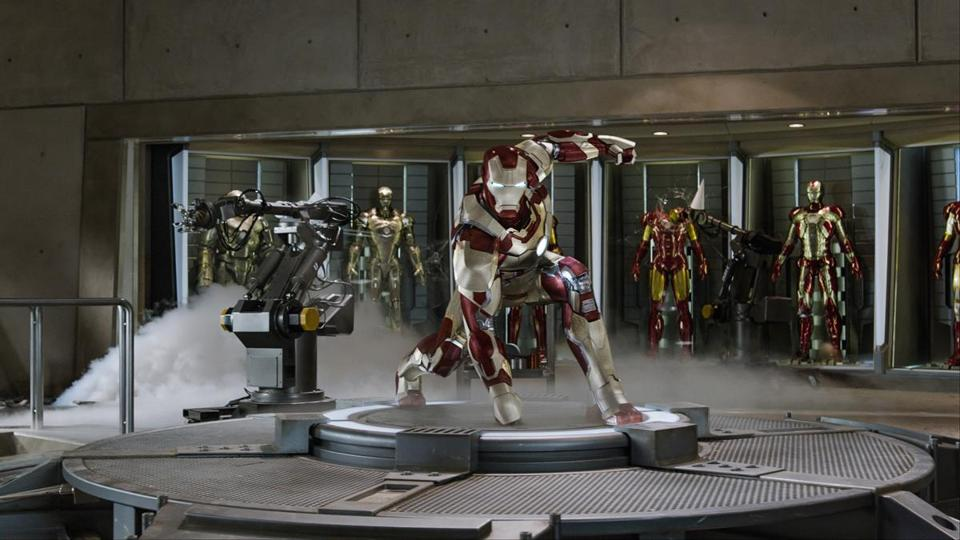 "Robert Downey Jr. returns as the hero in ""Iron Man 3."""