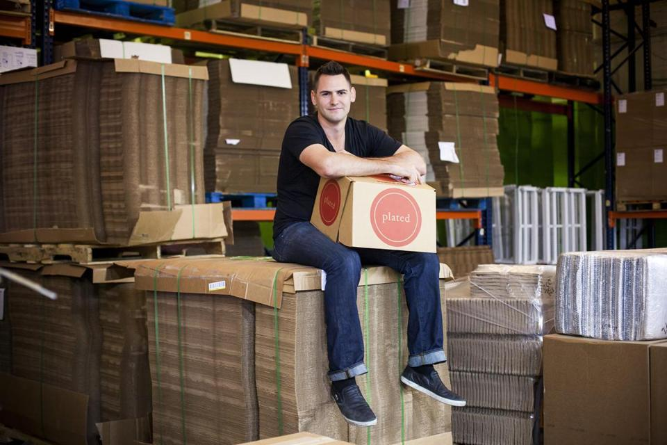 Nick Taranto, a cofounder of Plated, a company that sells ready-to-make dinner kits, at the company's warehouse in New York.