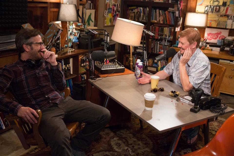 "Marc Maron (left) with Dave Foley in IFC's new comedy, ""Maron."""