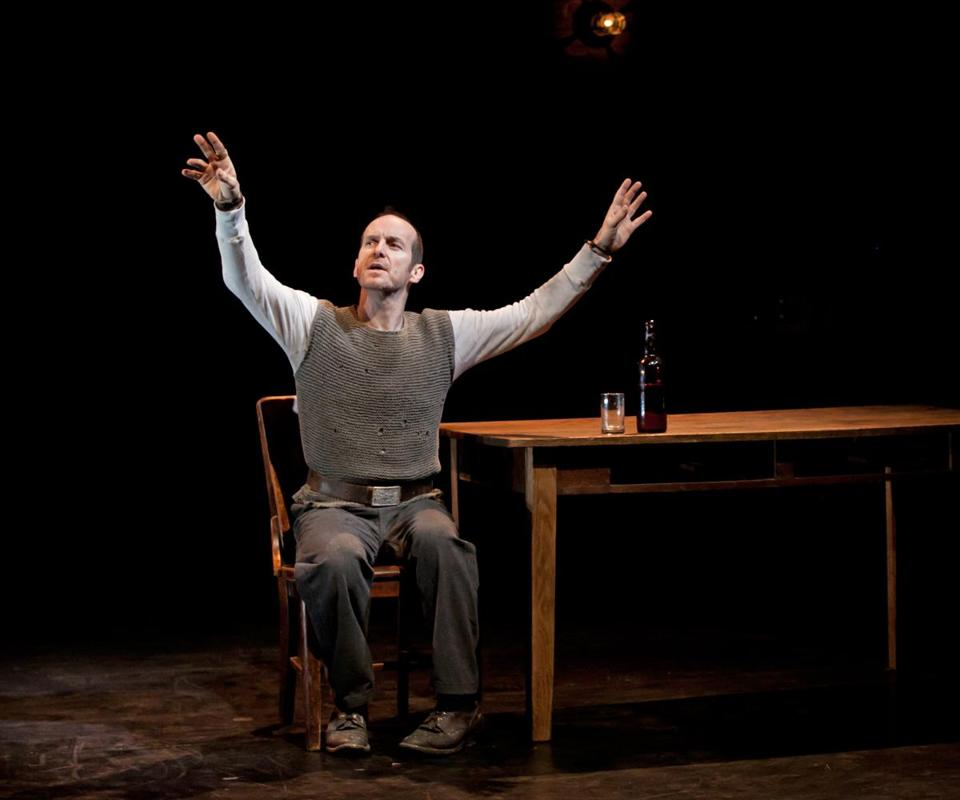 "Denis O'Hare (pictured performing last year in New York) stars in the ArtsEmerson production of ""An Iliad.''"