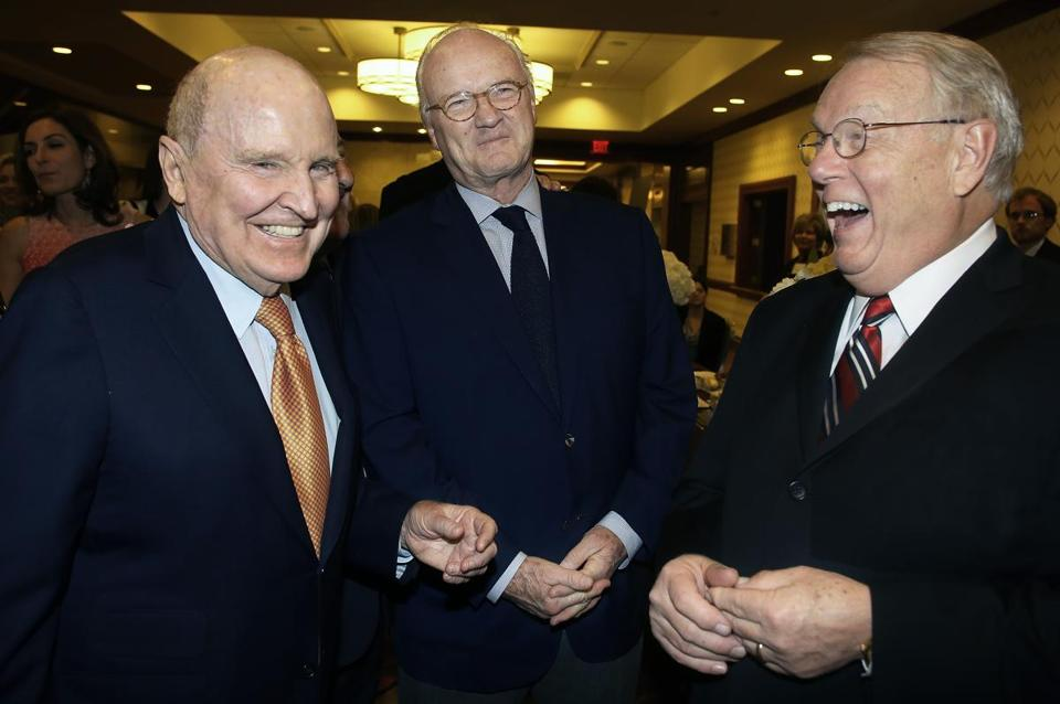 From left: Jack Welch, Mike Barnicle, and Dr. Cary Akins.