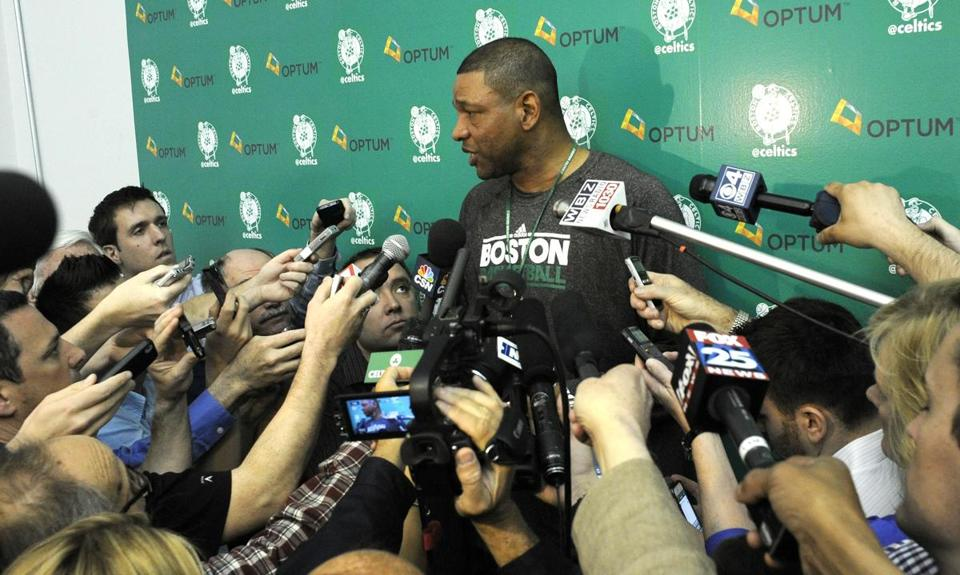 Doc Rivers was the focus of questions at Tuesday's practice.