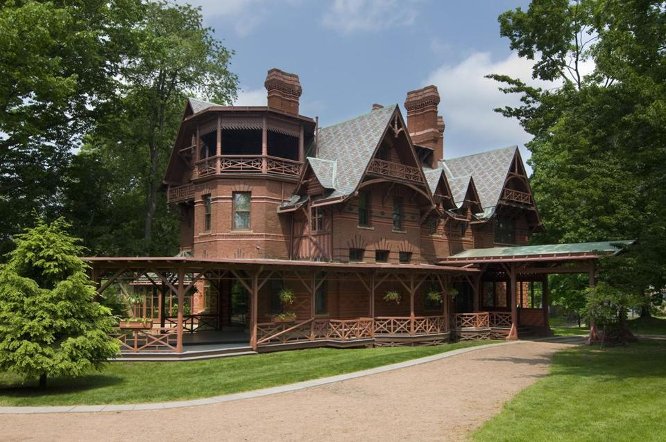 "The exterior of the Mark Twain House & Museum, featured on the ""Hidden Gems on New England"" tour."