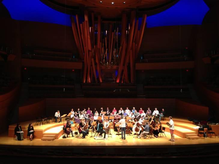 "Handel and Haydn Society performing ""Jephtha"" on a recent California tour."