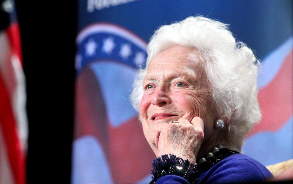 Former first lady Barbara Bush during an April luncheon.