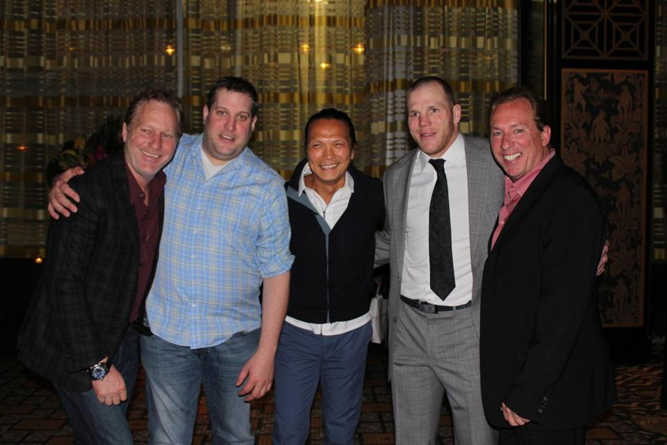 From left: Ed Kane, Kevin Long, Susur Lee, Shawn Thornton, and Joe Kane at Empire Asian Restaurant & Lounge.
