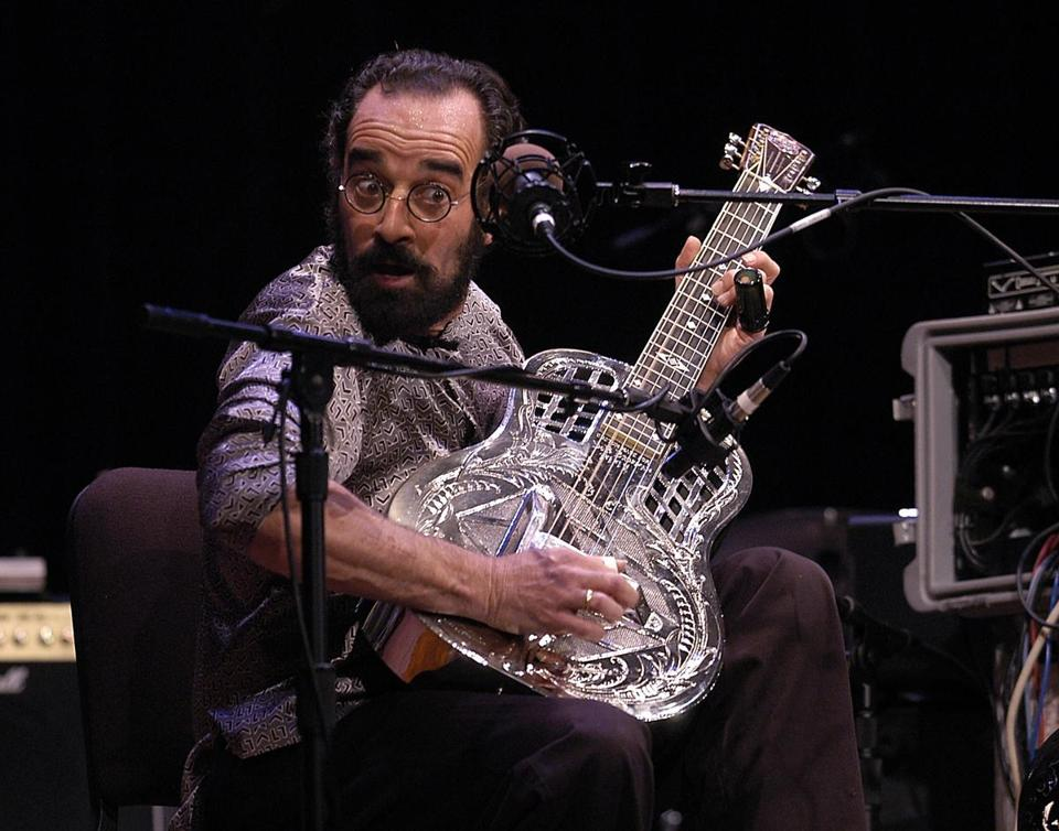 Mr. Brozman performed at a guitar marathon in 2004. He played the National steel guitar, often used for the blues.