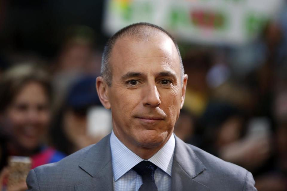 "Matt Lauer, former cohost of ""Today."""