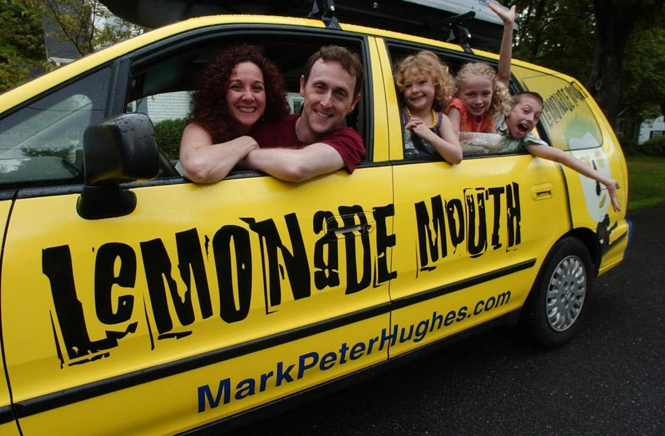 Mark Peter Hughes and his family sat in their van in Wayland in 2007.
