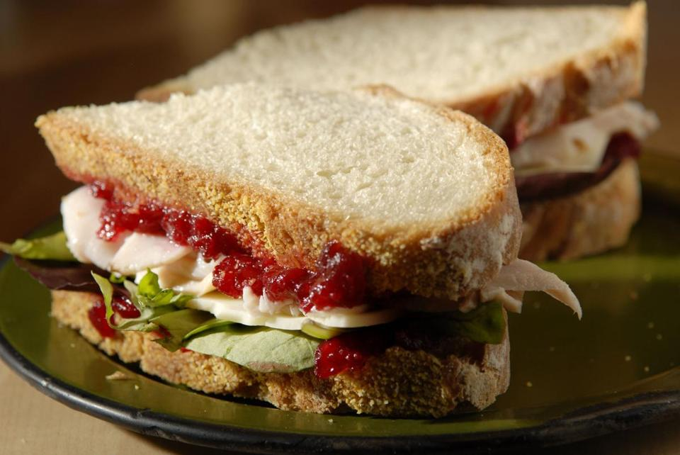 Turkey cheddar cranberry sandwich at flour the boston for How to make leftover turkey sandwich