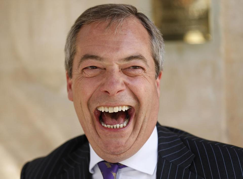 Independence Party leader Nigel Farage