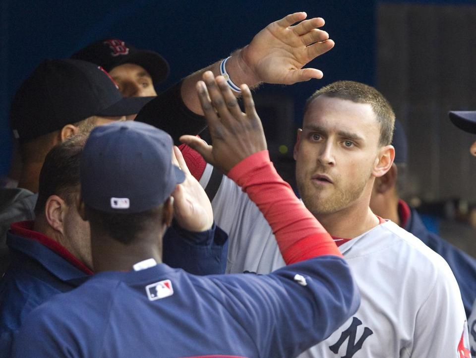 Will Middlebrooks earned kudos after scoring one of the Red Sox' three runs.