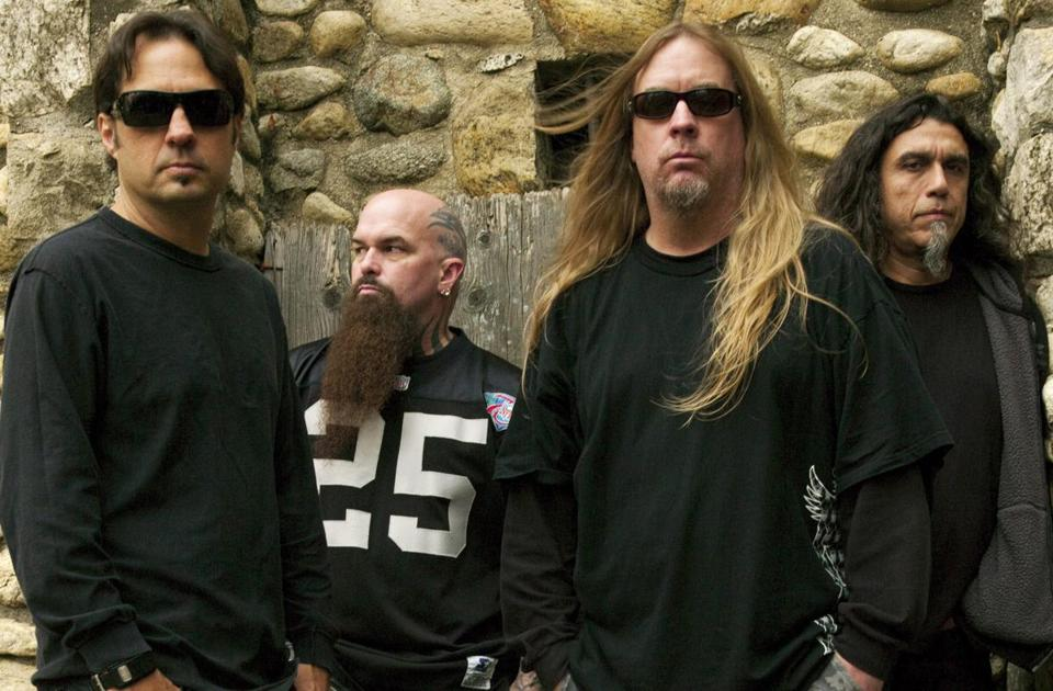 From left, Slayer's Dave Lombardo, Kerry King, Jeff Hanneman, and Tom Araya in a 2009 publicity photo.