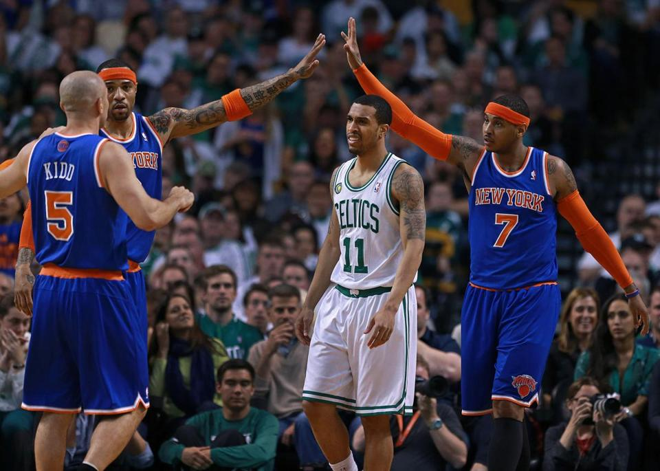 There was little Courtney Lee (11) or Boston could do to keep the Knicks from closing in on a rare playoff series victory.