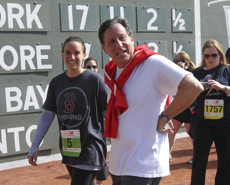 Tom Werner and daughter Amanda after the Run-Walk event at Fenway.