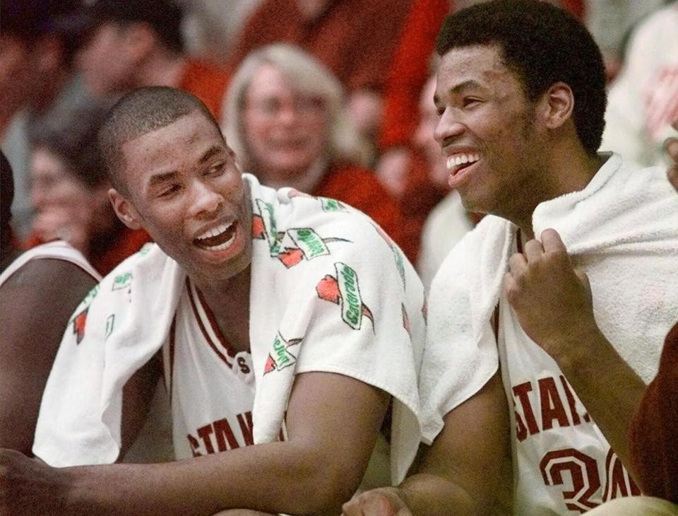 Jason Collins (right) and twin brother Jarron both left Stanford in 2001 and spent 10 years together in the NBA.