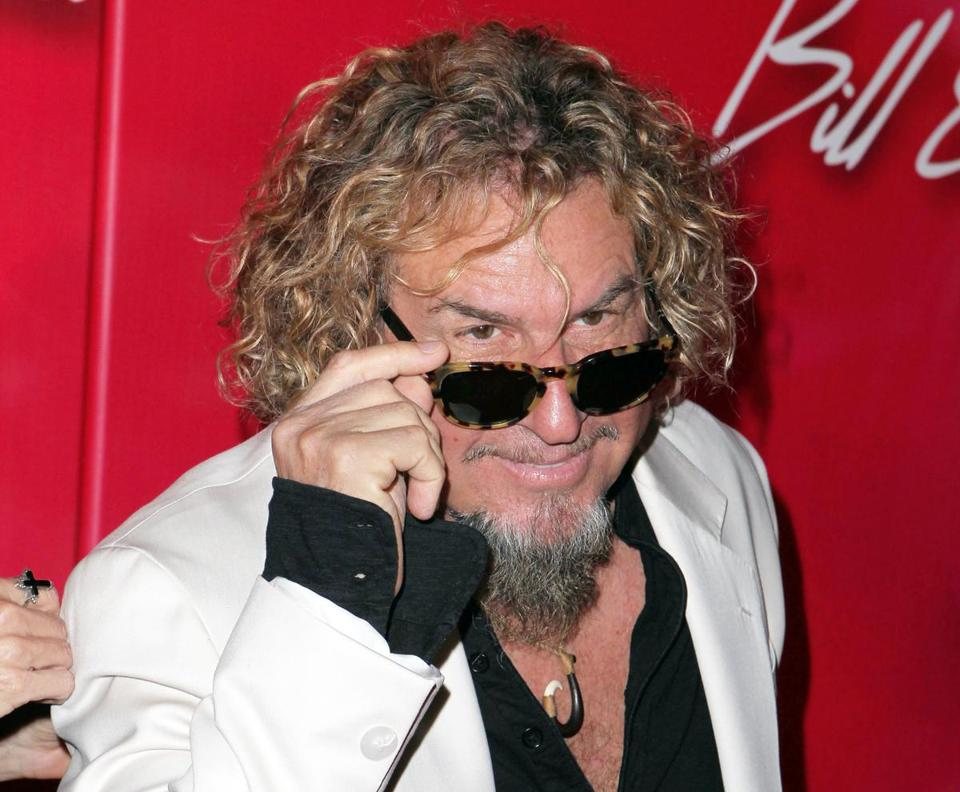 Rocker Sammy Hagar faced a defamation lawsuit from a woman who claims he fathered her child.