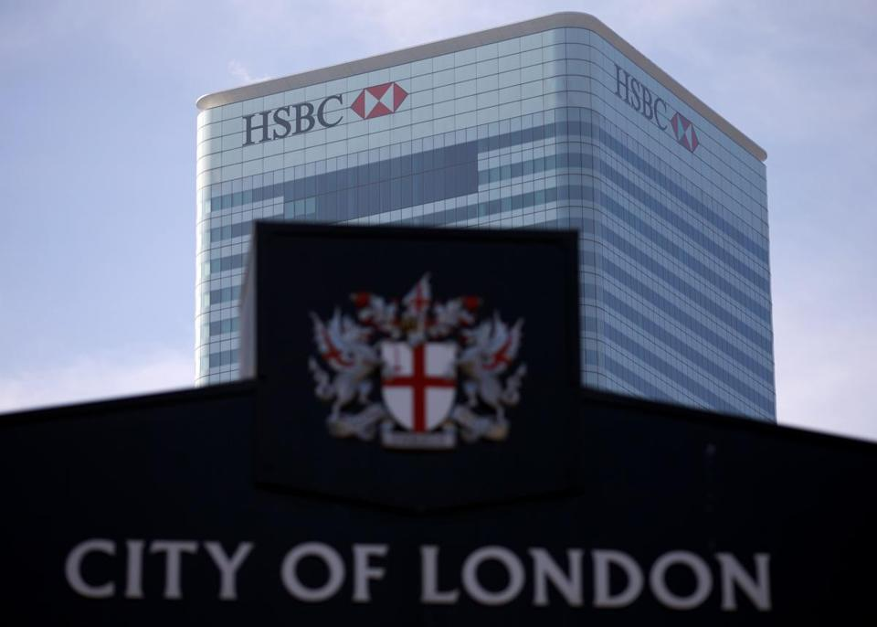 HSBC reported net profit of $6.35 billion for the first three months of the year.