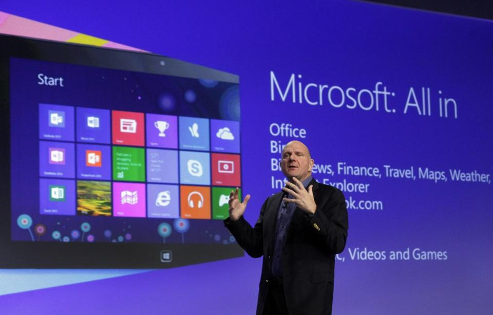 In October, Microsoft CEO Steve Ballmer launched Windows 8 — a major overhaul that has drawn much criticism.