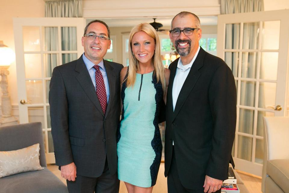 From left: Dr. Kevin Tabb, Ashley Bernon, and Dr. Todd Shapiro.