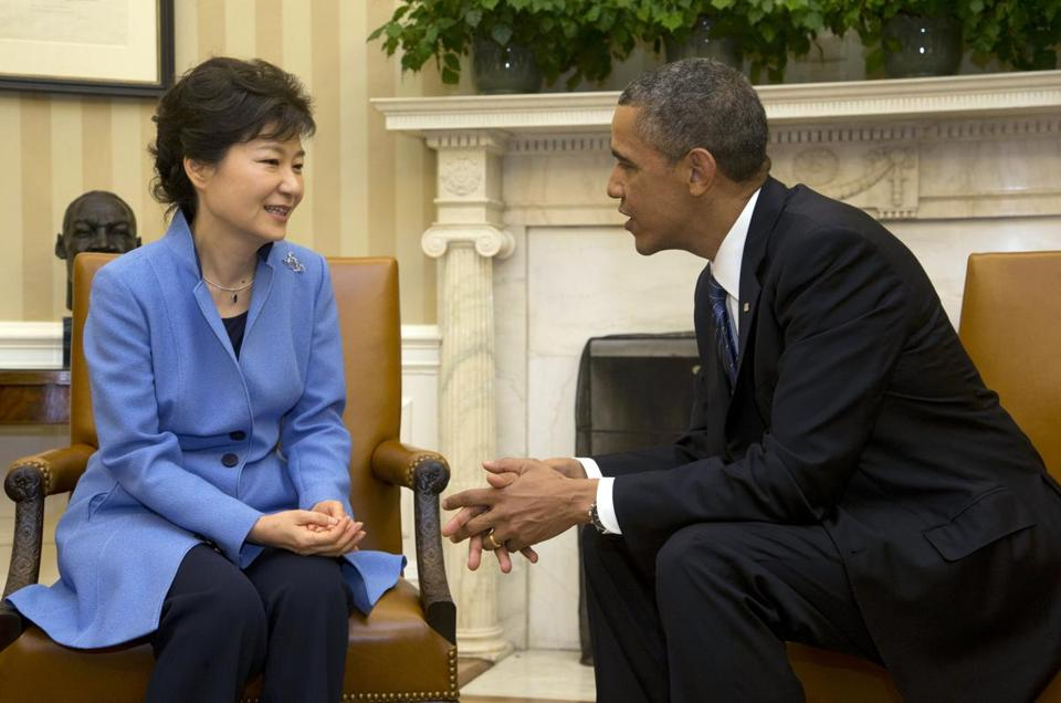 President Park Geun-hye of South Korea joined President Obama at the White House on Tuesday.